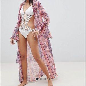 Alice Olivia Style Festival Beach Kimono Cover Up